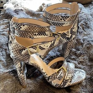 Snakeskin heels